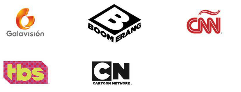 galavision, Boomerang TV Channel, CNN, TBS, Cartoon Network